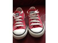 Kids Red Converse Trainers