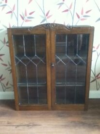 Bookcase with leaded doors