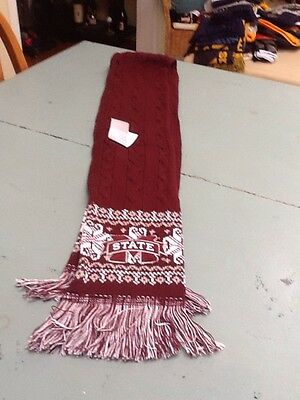 Mississippi State, Bulldogs, Adidas, Scarf, Adult, NCAA Fan gear - Mississippi State Bulldogs Gear