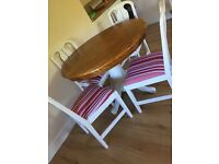 Vintage round dining room table