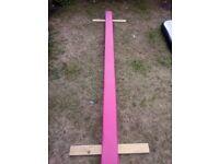 gymnastics balance beam new pink 8ft floor beam