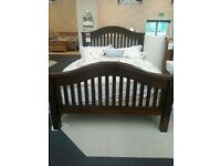 Solid mahogany bed frame