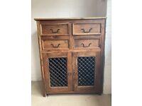 Jali Sheesham Solid Wooden Cabinet Dresser Furniture