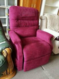 Electric fabric riser recliner armchair