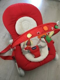 Chicco Hoopla Bouncer Red - Only used few times - Immaculate condition