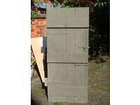 VERY HEAVY Vintage planked door