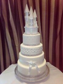 Styrofoam White Castle for cake