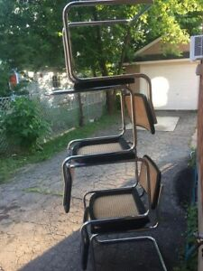 (9)  marcel breuer  cesca chairs. marked made in italy