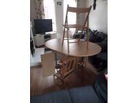 Im selling my fold away table and 4 chairs, very good conidation, chairs fold into the table.