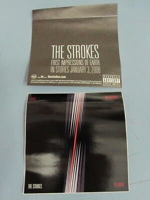 The Strokes 2005 First Impressions RCA Promo Sticker New Old Stock Flawless