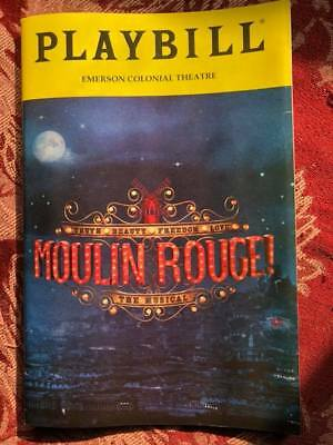 Moulin Rogue playbill pre-broadway Boston 2018 Aaron Tveit  Karen Olivo musical