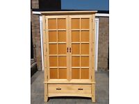 Beautiful Bedroom wardrobe with lovely detail. House move prompts reluctant sale. Solid wood.