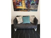 2-seat sofa KNOPPARP, Ikea, Grey, Like new, URGENT
