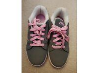Heeleys Pink and Grey size 5