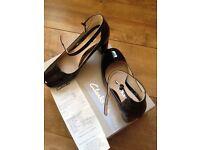 Clark shoes size 4 black patent
