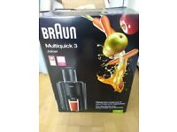 BRAUN MULTI QUICK 3 JUICER ONLY USED TWICE IN VERY GOOD CONDITION