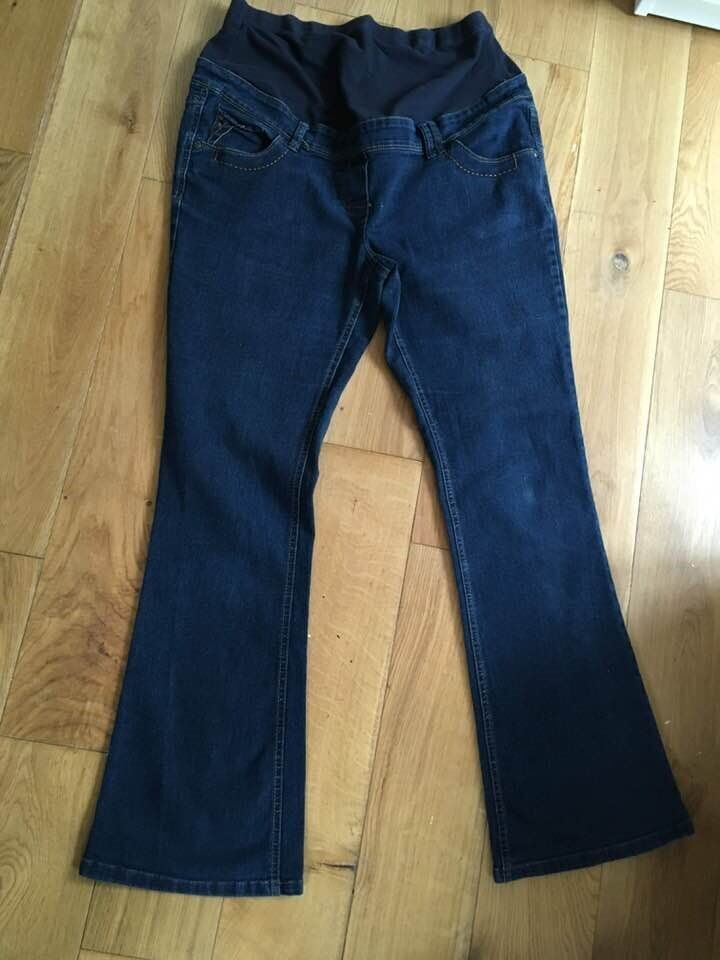 4be87fee9da90 Red Herring Maternity over bump boot cut jeans size 14 blue. £4 collection  from Shepshed (can post)