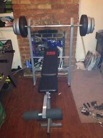 Pro Power Weight Bench & 30kg Weight with Bar