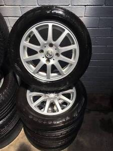 "Nissan 15"" Rims with Tyres x 4 - $350 neg Wangara Wanneroo Area Preview"
