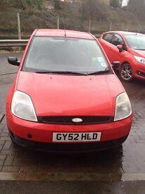 LOVELY Ford Fiesta 2002, 1.4l engine, 2 months MOT, £300 ONO, full service