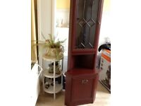 For sale 2 mahogany coloured corner units in fair-good condition