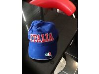 Italia embroidered baseball cap,blue,excellent condition,only £3,possible local delivery