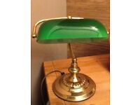 **** ANTIQUE BANKERS LAMP ****