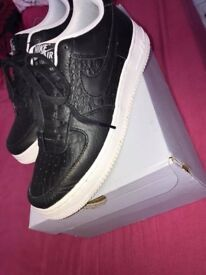 Nike Air Force Ones Black & White Basically Brand New Brought Last Month Worn A Couple Times £40!!