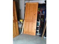 Three pine doors
