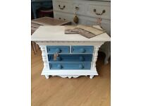 Beautiful Little Antique Hand Painted Chest of Drawers