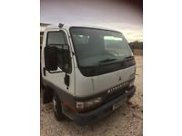 mitsubishi canter 3.5t ally pick up dropside flatbed no mot export 2.8td diesel
