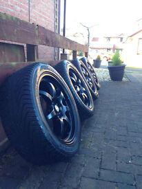 "17"" Black Calibre Pro 7 Alloys with Tyres"
