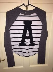 River Island striped long sleeved top size 10