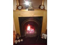 maple colour fire surround, only used for 2 months.