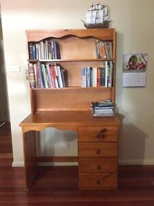 Wooden Desk with hutch, shelves and drawers Richmond Hawkesbury Area Preview