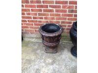 Bronze coloured garden pot