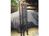 Carp rods set of 3 in as new condition only used once 2.75 test curve pro logic c1