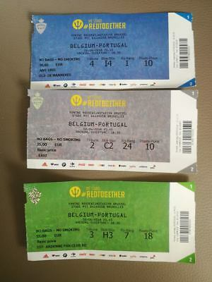 Ticket : Belgique - Portugal 02-06-2018 Amical World Cup 2018
