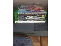 Xbox One S , 500GB, Storm Grey (Like new with 5 Games, fully boxed)