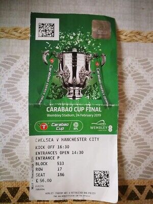 Ticket Finale Carabao Cup England 2019 : Chelsea - Manchester City @ Wembley