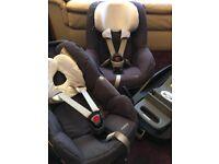 Maxi cosi Pebble car seat, Pearl car seat and Family Fix Base