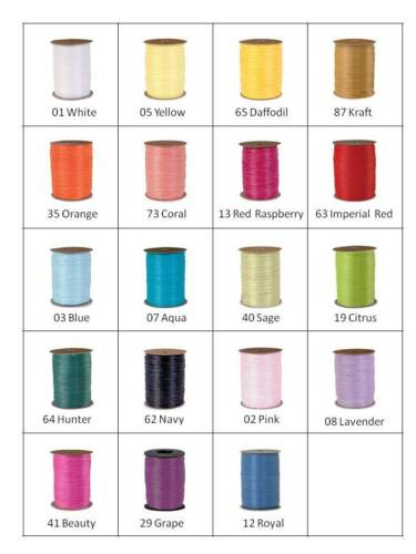"Berwick Matte Wraphia Ribbon 1/4"" x 100 Yards NEW - 19  colors  74900-"