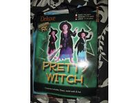 GIRLS PRETTY WITCH FANCY DRESS OUTFIT AGE 7/ 10 YEARS PARTY OR WORLD BOOK DAY BRAND NEW