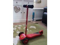 Ferrari 3 wheel scooter