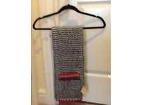 White Stuff womens new crochet pocket scarf