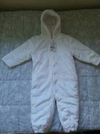 Brand NEW snowsuit for girls 12-18 months