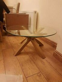 Next oak and glass coffee table