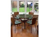 Kitchen table and 4. Chairs for sale and kitchen sink and tap