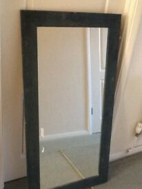 Mirror ablong one in blue wooden frame very stylish