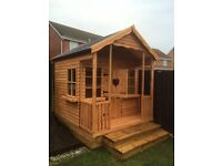 8X6 UPSTAIRS/DOWNSTAIRS PLAYHOUSE 16/17MM T&G FULLY TREATED £539
